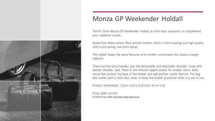 Monza GP Weekender Holdall